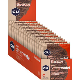 GU Energy Stroop Boîte Gaufrettes 16x32g, Hot Chocolate